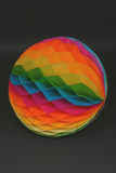 Rainbow Ball. Honeycomb paper decoration stock photos