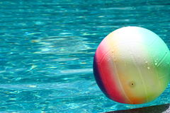The rainbow ball on water Stock Photography