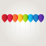 Rainbow balloon. On white background vector Royalty Free Stock Photography