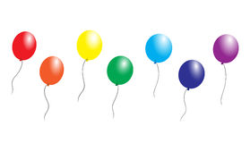 Rainbow balloons Stock Images