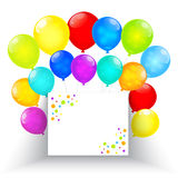 Rainbow balloons isolated on white background. Vector EPS10. Stock Photography