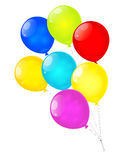 Rainbow balloons isolated on white background. Vector EPS10. Stock Images