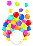 Rainbow balloons isolated on white background. Vector EPS10. Royalty Free Stock Image
