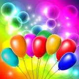 Rainbow balloons, vector illustration Royalty Free Stock Photos