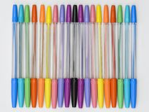 Rainbow Ballpoint Pens Stock Images