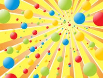 Rainbow balls. Illustration of an abstract colorful background Royalty Free Stock Image