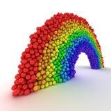 Rainbow from balls Royalty Free Stock Photo