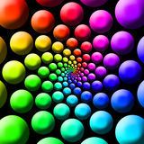 Rainbow Balls Royalty Free Stock Photography