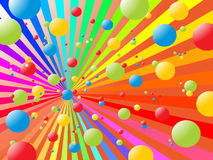 Rainbow balls Stock Image