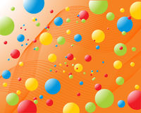 Rainbow balls. Vector illustration of an abstract colorful background Stock Photos