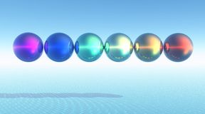 Free Rainbow Balls Royalty Free Stock Photos - 9611588