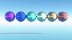 Rainbow balls Royalty Free Stock Photos