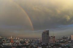 Rainbow in Bangkok royalty free stock photos