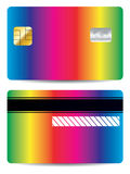Rainbow bank card design Stock Photo