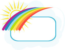 Rainbow banner Stock Photography