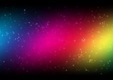 Rainbow banner. Simply rainbow abstract background with white dots Stock Photo