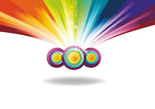 Rainbow banner with sparks Royalty Free Stock Photo