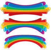 Rainbow banners Stock Images