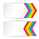 Rainbow banners Royalty Free Stock Photography