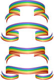 Rainbow Banners. Set of 4 rainbow banners / ribbons Royalty Free Stock Photography