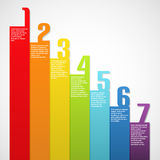 Rainbow banners with numbers. Vector illustration Stock Images