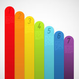 Rainbow banners with numbers. Vector illustration Royalty Free Stock Photo