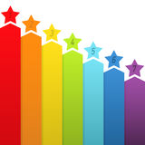 Rainbow banners with numbers. Vector illustration Stock Photos