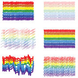 Rainbow banners Royalty Free Stock Photo