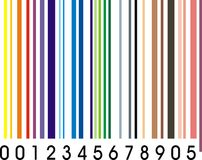Rainbow barcode Stock Images