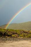 Rainbow on beach Royalty Free Stock Images