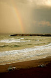 Rainbow on beach #2 Royalty Free Stock Photography