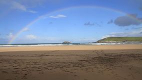 Rainbow beach Crantock Cornwall England UK Stock Photos