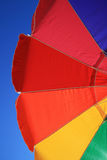 Rainbow beach umbrella Royalty Free Stock Image