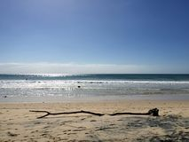 Rainbow beach view royalty free stock photography