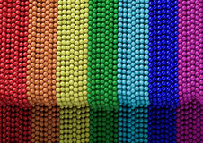 Rainbow beads on the wall. Jewels in Egypt. Royalty Free Stock Photo