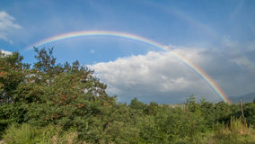 Rainbow. Beautiful rainbow after a summer storm Stock Images