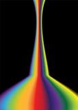 Rainbow bend bright Stock Image