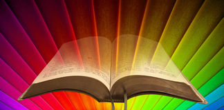 Rainbow bible spiritual light Royalty Free Stock Photos