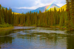 Rainbow at Big Salmon River Royalty Free Stock Image
