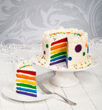 Rainbow Birthday Cake Royalty Free Stock Photos
