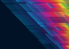 Rainbow and black color geometric abstract background vector illustration EPS10.  Royalty Free Stock Photos