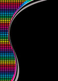 Rainbow blk Royalty Free Stock Image