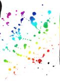 Rainbow blobs. Set of spectrum colors in blobs and splats royalty free stock images