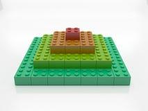 Rainbow blocks pyramid Royalty Free Stock Photos