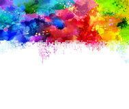 Rainbow blots Stock Photography