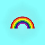 Rainbow on blue Stock Photography