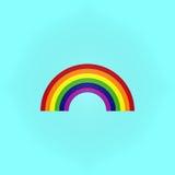 Rainbow on blue Stock Photography
