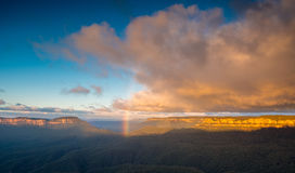 Rainbow in Blue Mountains Stock Image