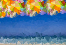 Rainbow and blue Polygonal abstract background. With space for your text Stock Photos