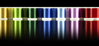 Rainbow bobbins Stock Photography